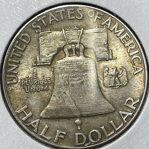 1948-P High Grade VF/XF-FBL Key Date Low Mintage Franklin US Silver Half Dollar