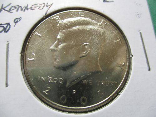 2005-D  Kennedy Half Dollar.  Item: 50 K05D-07.