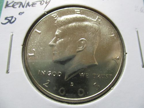 2005-D  Kennedy Half Dollar.  Item: 50 K05D-08.