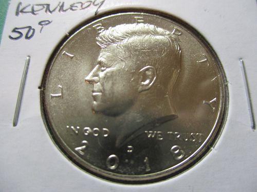 2018-D  Kennedy Half Dollar.  Item: 50 K18D-05.