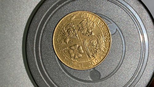 200 Lire 1923-1993 70 YEARS of Air Force KM#155 XF Condition