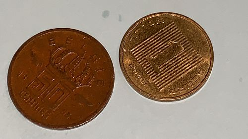 1 AGORA 1985-1991 and 50 Centimes Belgie