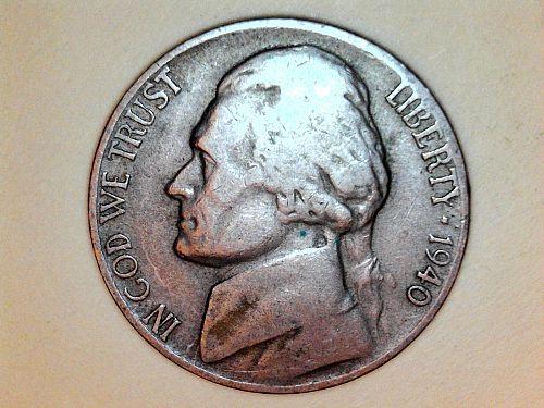 1940 D Jefferson Nickel---Very Fine