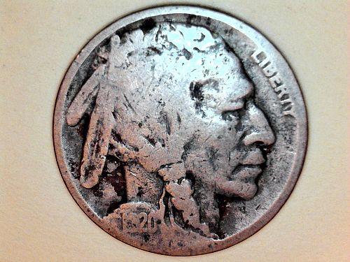 1920 P Buffalo Nickel---Good