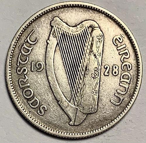 1928 IRELAND REPUBLIC  .750 FINE FLORIN