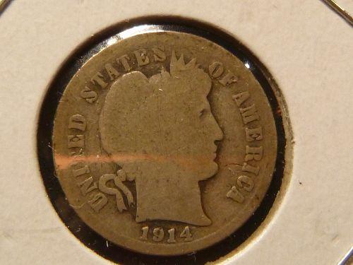 Dimes >> Barber >> 1914-D