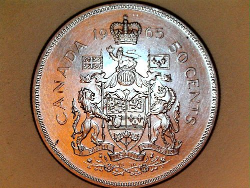 1965 Proof-Like Canada Half Dollar