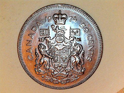 1974 Proof-Like Canada Half Dollar