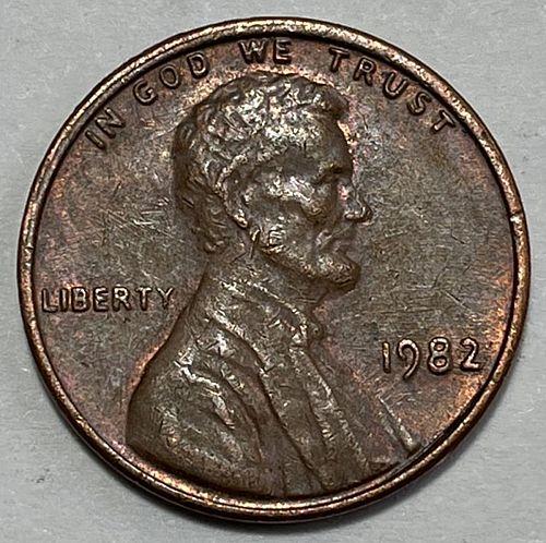 1982 Lincoln Memorial Cent : Zinc - Large Date  31233