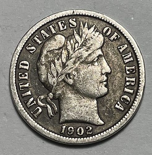1902 Barber Dimes. 31252