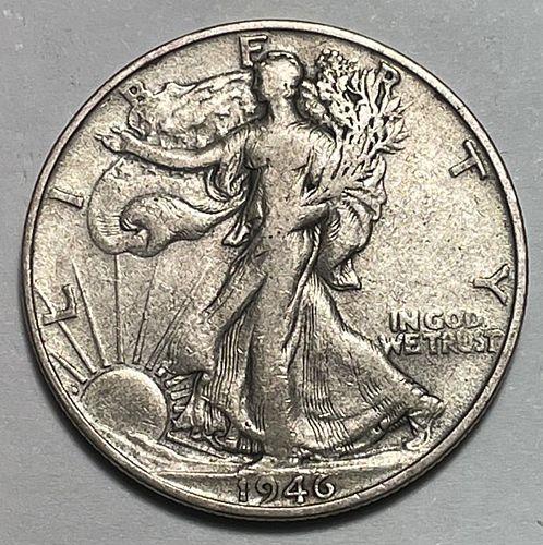 1946 S Walking Liberty Half Dollars. 31312