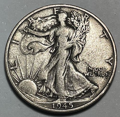 1945 S Walking Liberty Half Dollars. 31313