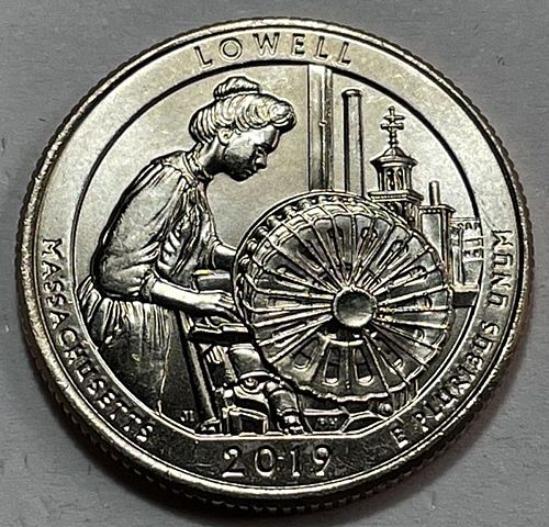 2019 D Lowell America The Beautiful Quarters. 31333