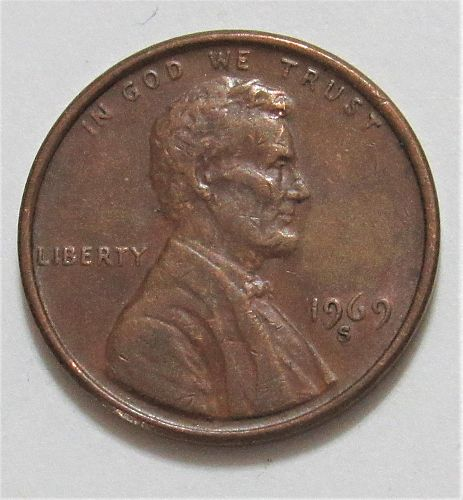 1969-S 1 Cent - Lincoln Memorial Cent