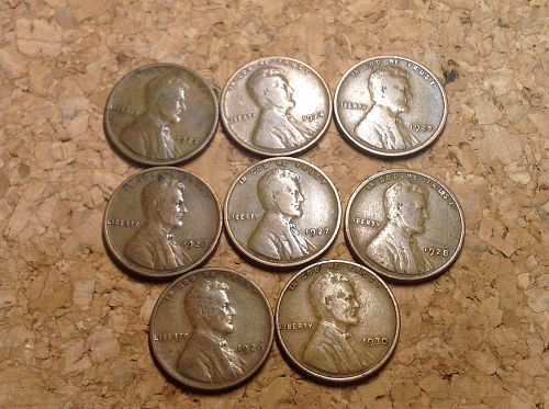 Lincoln Penny Collection 1923-1930 P's