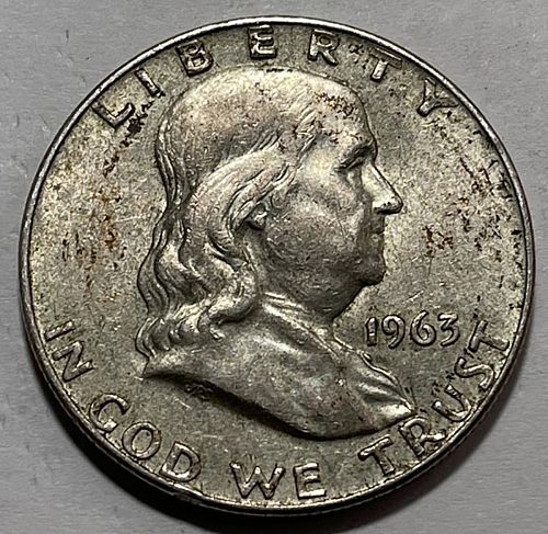 1963 D Franklin Half Dollars. 31422