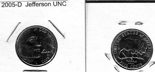 40 - 2005 - D  JEFFERSON NICKLES   Uncirculated