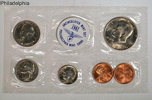 US Mint Set 1982 Uncirculated Coins