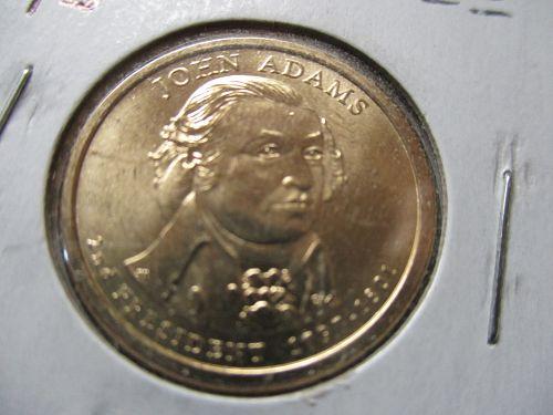 2007-P  John Adams Presidential Dollar.  Item: PD 07JA-04.