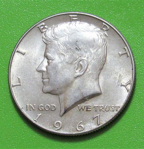 1967 50 Cents - Kennedy Half Dollar - 40% Silver - Uncirculated