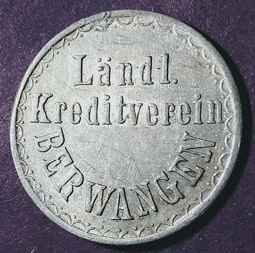 BERWANGEN GERMANY MILK RATION TOKEN GOOD FOR ONE LITER MILK