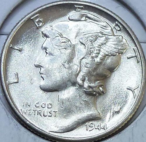 1944-P  Brilliant Uncirculated Mercury Dime UNC 665)