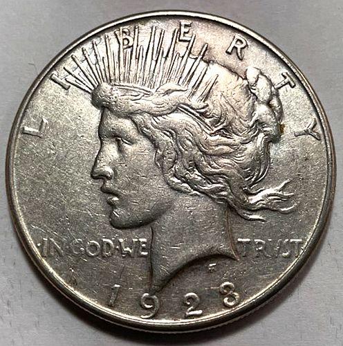 1923 S Peace Dollars. 31522