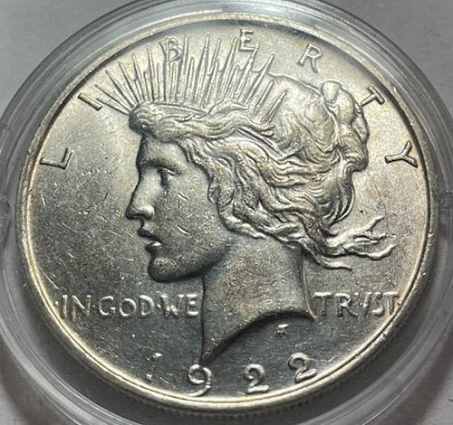 1922 D Peace Dollars 31532