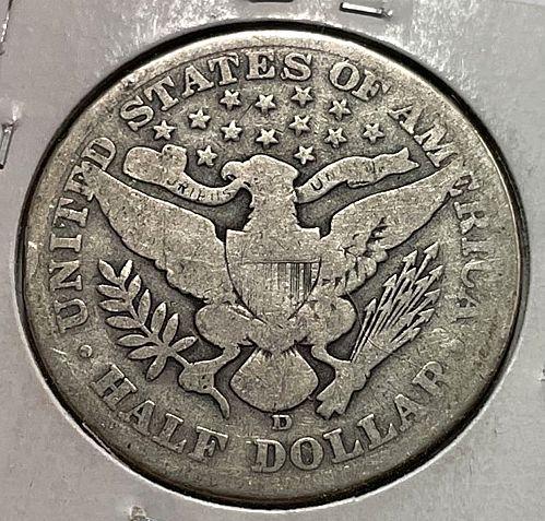 1912 D Barber Half Dollars. 31434
