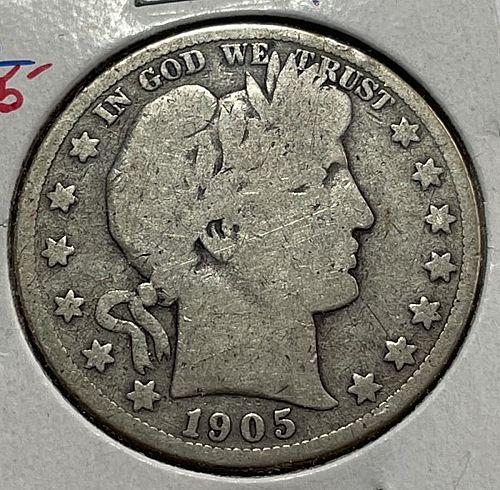 1905 S Barber Half Dollars. 31542