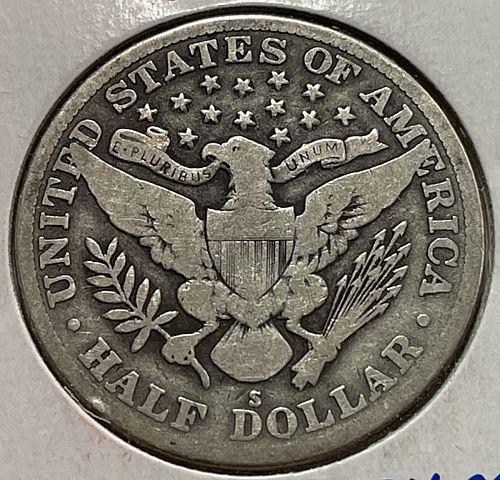 1914 S Barber Half Dollars. 31543