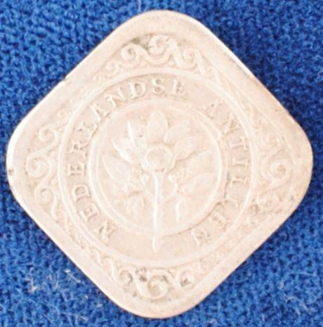 1957 Netherlands Antilles 5 Cents VF+ #2