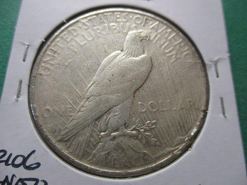 1922-S  VF20 Peace Dollar.  Item: DP 22S-03.