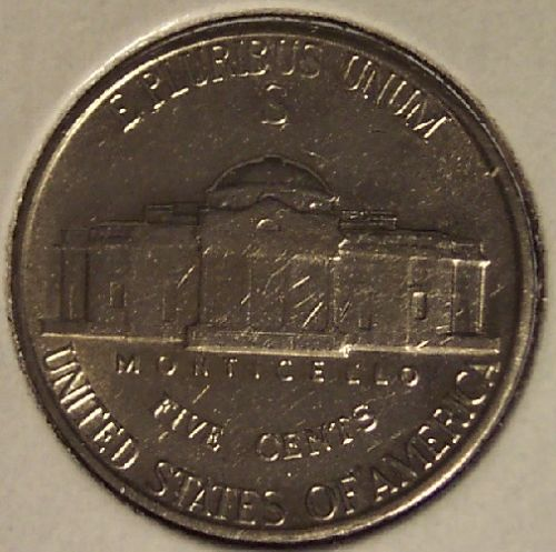 1943-S Jefferson Wartime Silver 5c BU #0721