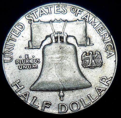 1958-P Franklin Half Dollar