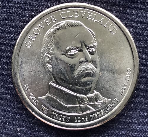 2012 D Unc Presidential Dollar Coin---Grover Cleveland 1st Term (0620-19)