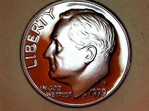 1979 S Proof Type 1 Roosevelt Dime