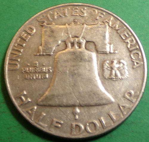 1954 - D Franklin Half Dollar