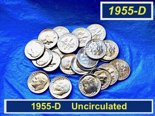 1955-D Roosevelt Dime   ⭐️  Uncirculated  ⭐️   (3358)