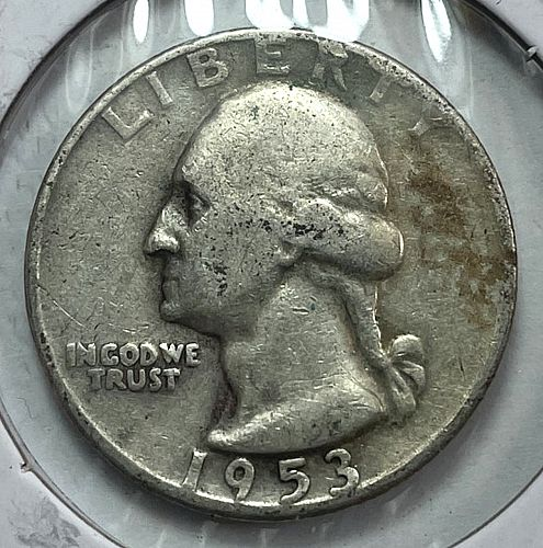 1953 D Washington Quarters 90% silver. 31551