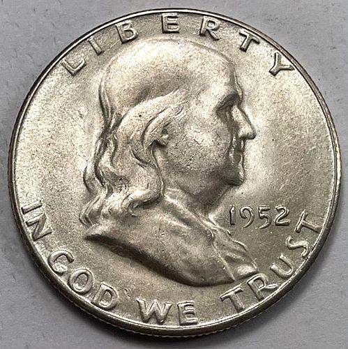 1952 S Franklin Half Dollars.  31612