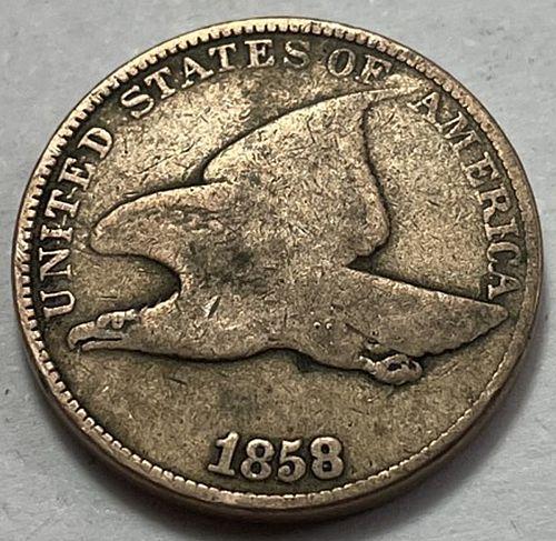 1858 Flying Eagle Cent : Large Letters. 31622