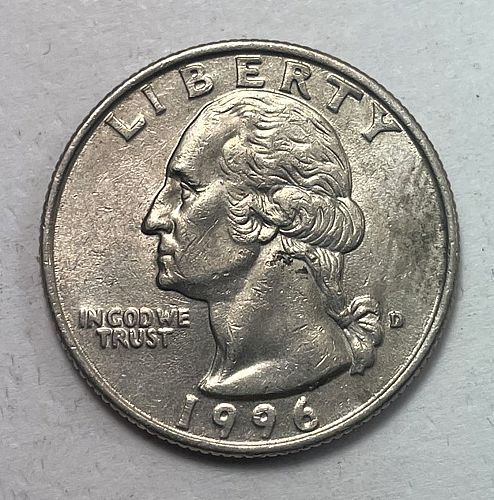 1996 D Washington Quarters. 31624