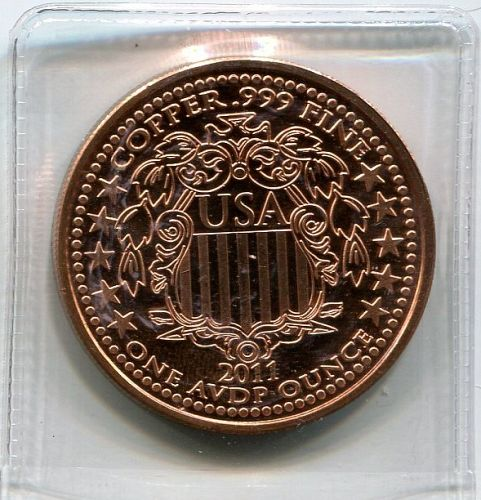 3 - 1 Ounce Pure .999 Copper Rounds - All Different
