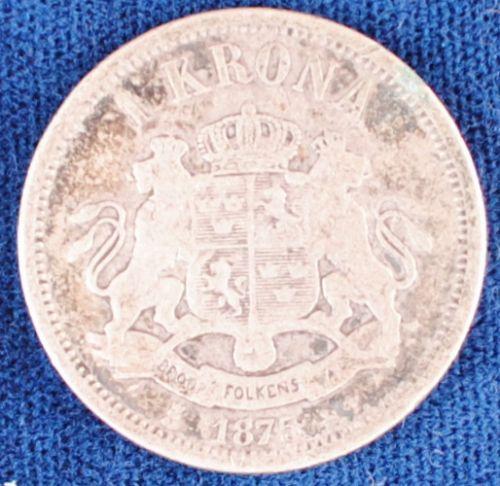 1875 Sweden Krona VG