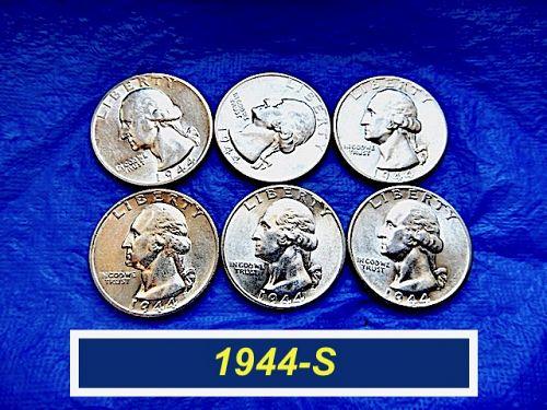"""1944-S  Sparkling AU Quarter ⭐️  High Grade """"AU-58""""  ⭐️  (2989)"""