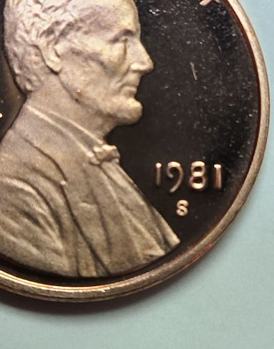 1981-S TYPE 2 Lincoln Cent Proof-64 (Near Gem) RED KEY DATE!