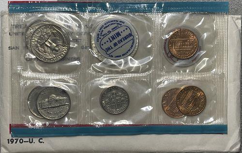 1970-PDS Uncirculated Mint Set - Semi-Key Date JFK Half Dollar