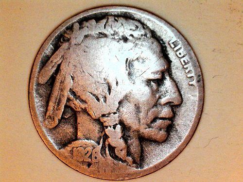1926 D Buffalo Nickel--Good