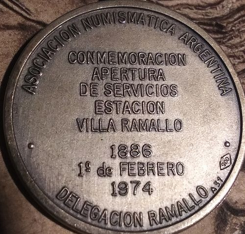 1974 Argentina 🇦🇷 Numismatic Association Medal